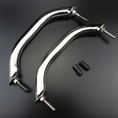 2pcs Stainless Steel 8'' Boat Polished Boat Marine Grab Handle Handrail