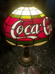 Coca Cola Stained Glass Lamp.Details About Tiffany Style Coca Cola Coke Faux Stained Glass Lamp 16