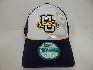 timeless design cff5e d9328 Image is loading New-Era-9Forty-Marquette-Golden-Eagles-Blu-Wht-