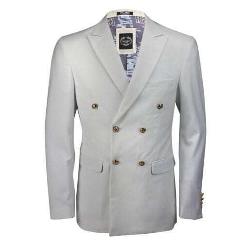 slim vintage blazer fit uomo giacca Giacca bottoni da bianca classica nero qn8tpt