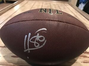 Hines-Ward-Autographed-Signed-Football-JSA-Sticker-Pittsburgh-Steelers