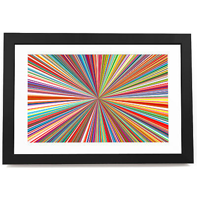 AB1345 Colourful Retro Cool Modern Abstract Framed Wall Art Large Picture Prints