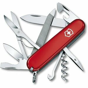 Victorinox Mountaineer Swiss Army Knife W Leather Pouch
