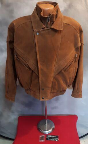 Midway Genuine Brown Suede Leather Jacket Mens Siz