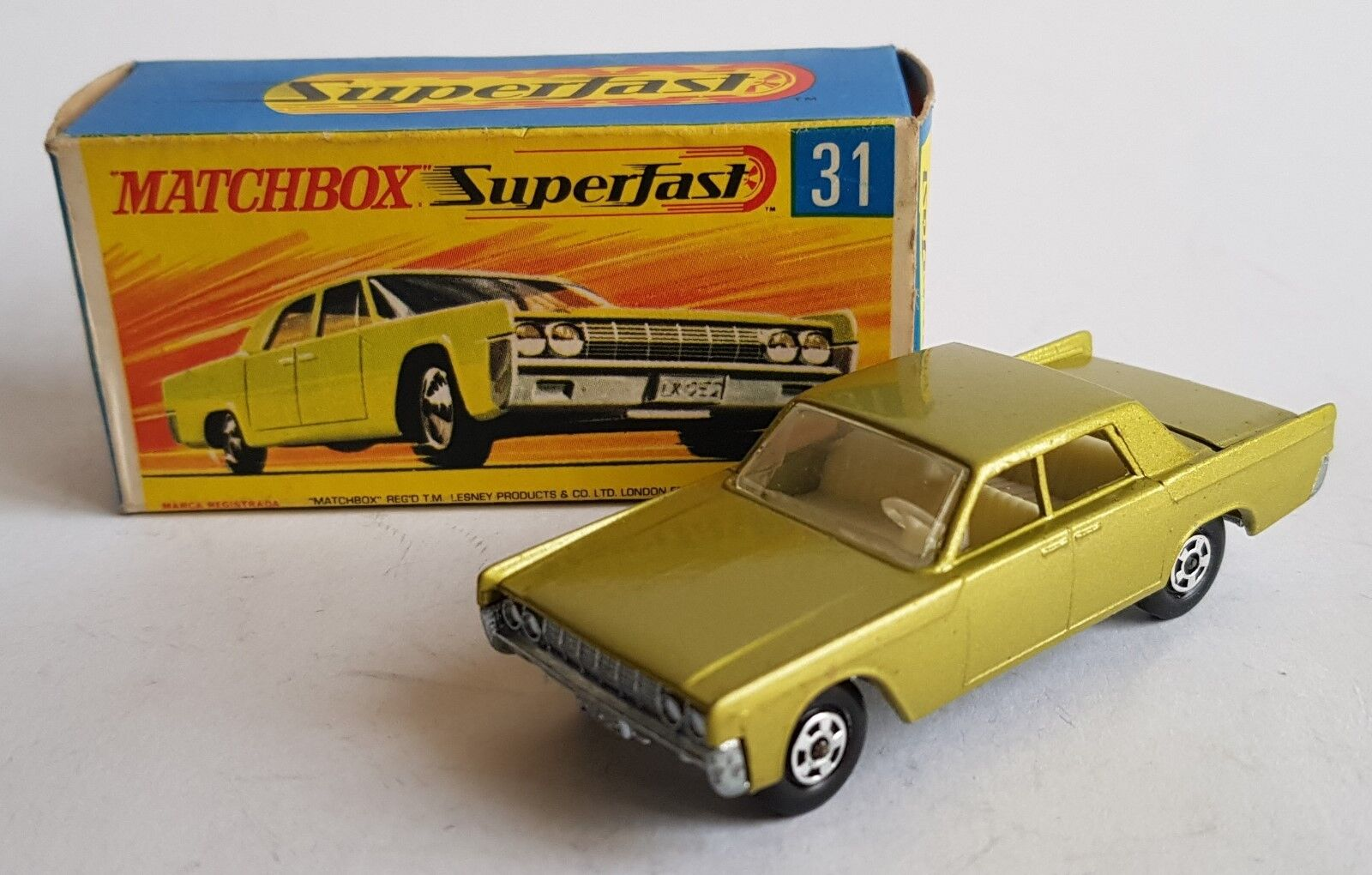 Matchbox Superfast No. 31, Lincoln Contintal, - Superb Mint.