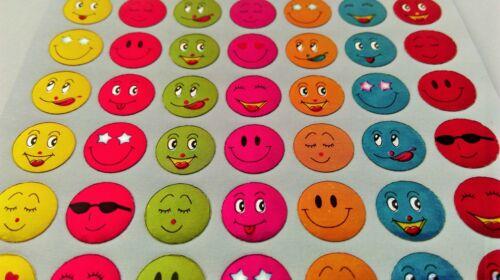 63 kleine Smileys Gesichter Sticker 2-40 Stück Aufkleber lustig Smeili Emoji