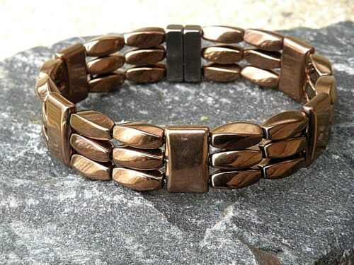 Men/'s Women/'s 100/% Copper Magnetic Healing Bracelet Anklet 3 Row Therapy Tested