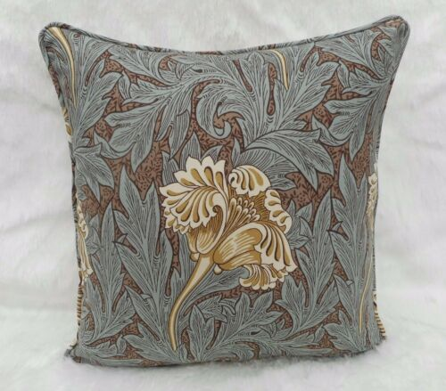100/% Cotton William Morris Fabric Cushion Cover /'TULIP/' Bullrush//Slate