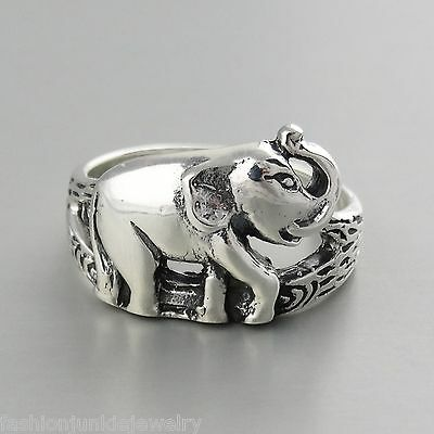 Elephant Ring - 925 Sterling Silver - Zoo Animal Jewelry African Safari NEW