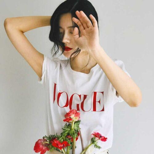 2020 new summer Women T-Shirt VOGUE Lady Print Short Sleeve Fashion For Women