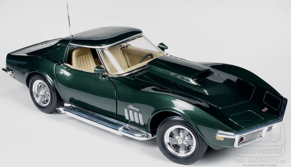protección post-venta 1969 Corvette Baldwin Motion verde verde verde 1 18 Auto World 1010  gran descuento