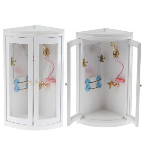1:12 Dollhouse Miniature Furniture Wooden Bathroom Shower Room  DUF1ENEGYGY