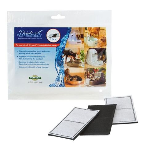 PetSafe Drinkwell Fountain Activated Carbon Replacement Filters 6ct 2 3-Pack...