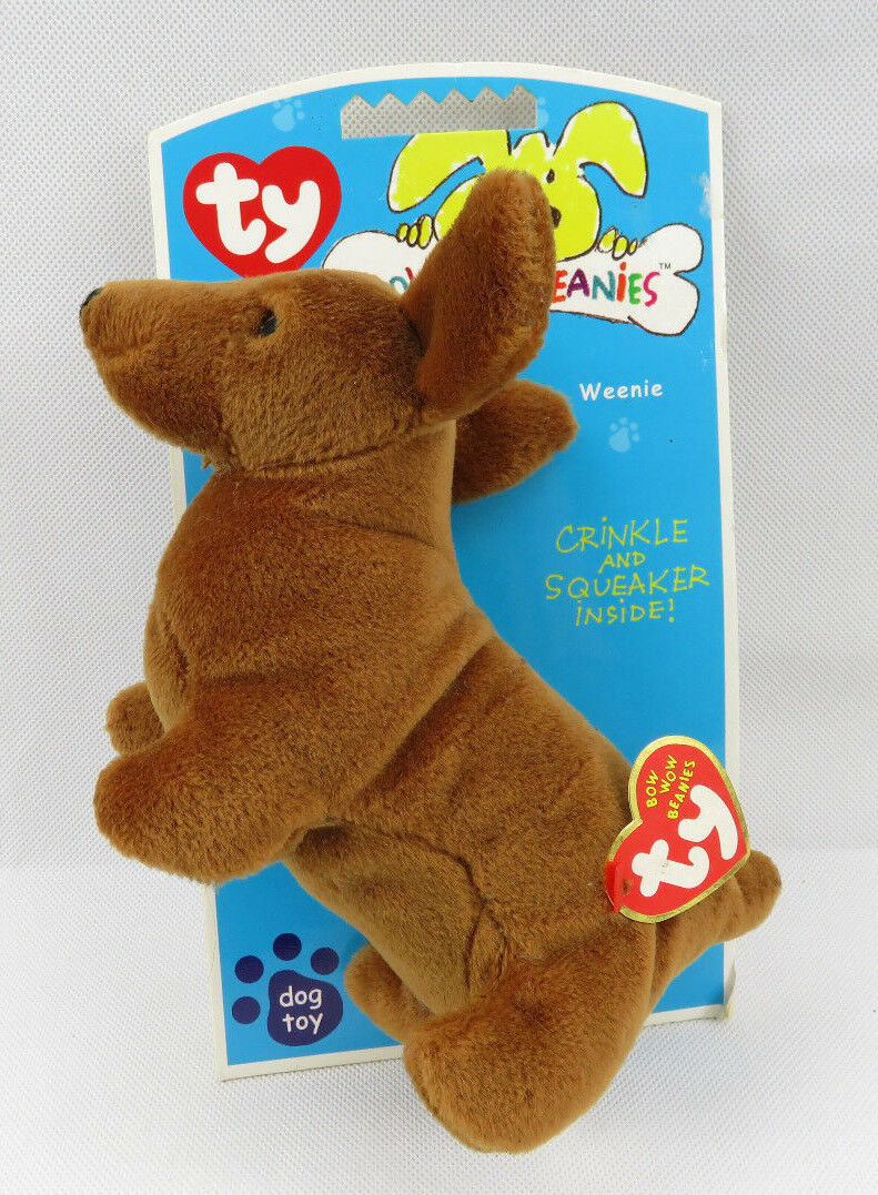 462df25035e Ty Bow Wow Beanies Weenie the Dachshund Dog Toy Toy Dog Crinkle Squeaker  Inside 423663