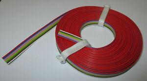1-39-m-8-fach-Litze-5m-Flachbandkabel-8-Farben-034-NEU-034