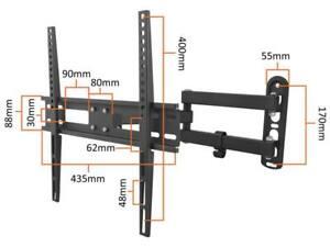 Heavy-Duty-Double-Arm-Lcd-Led-Tv-Bracket-Tilt-amp-Swivel-Wall-Mount-26-034-55-034