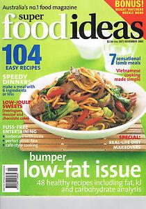 SUPER FOOD IDEAS - Issue 43 - November 2003