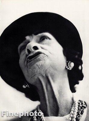 1958 Vintage GABRIELLE CHANEL COCO France Fashion Designer RICHARD AVEDON 16x20