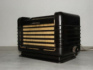 tsf-valve-art-deco-radio-philips-bf-281-u-vintage-old-tube-lamp-antique-bakelite