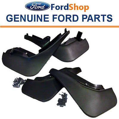 New Genuine Ford Fiesta MK7 2008 Onwards Set of Front and Rear Mud Flaps /Guards