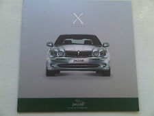 Jaguar X-Type Brochure 2001 in English German Italian French Spanish Japanese