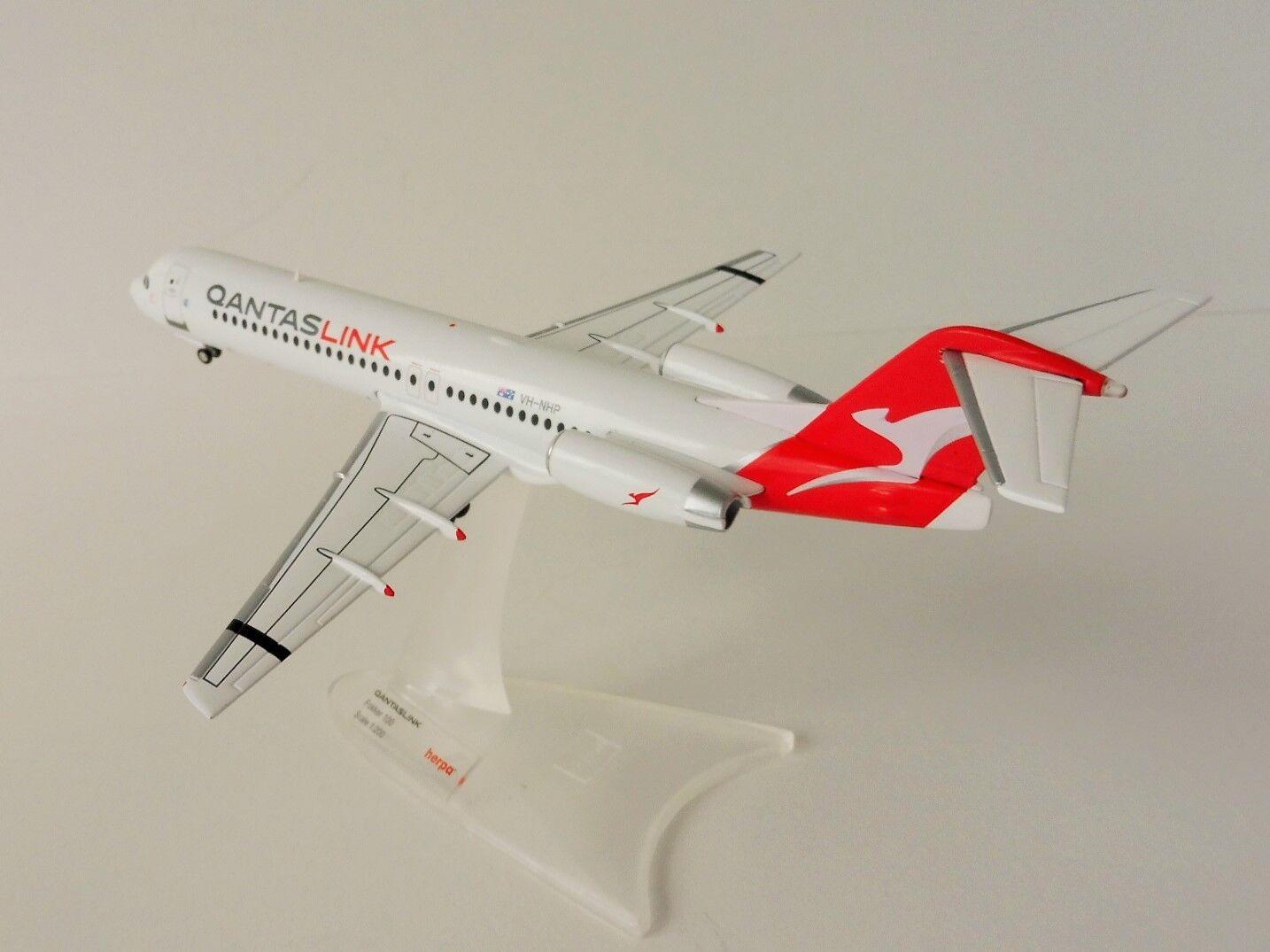 Fokker 100 Qantaslink 1 200 Herpa 559096 Qantas Link Australia f100