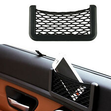 15X8cm Automotive Bag With Adhesive Visor Car Net Organizer Pockets Net Convient