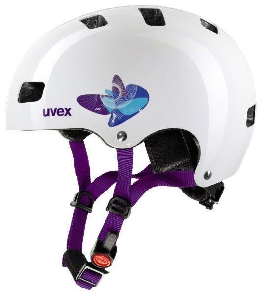 UVEX Kid 3 butterfly butterfly butterfly Blau Fahrradhelm Radhelm Kinder Helm Scooter Inliner Skate 5c0e9f