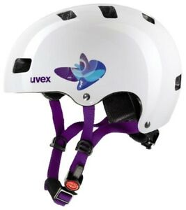 Uvex Kid 3 Butterfly Blue Casque Radhelm Enfants Casque Scooter Patins Skate 							 							</span>