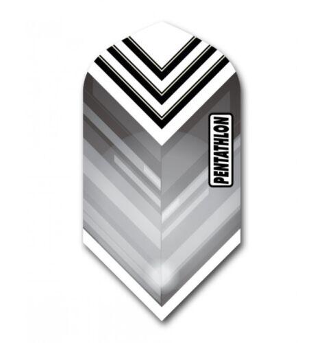 3 Sets BLACK Pentathlon Slim Dart Flights Ex-Tough T1039 9 Flights