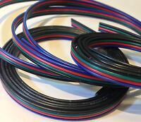 LED RGB Strip Kabel Cable Anschlusskabel Verbindung 4 adrig polig Litze 5 10 20m
