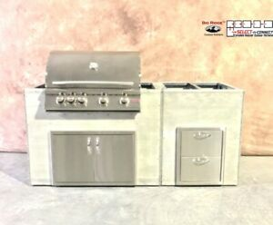 Big Ridge Ready To Finish Outdoor Kitchen Includes Blaze Grill And Accessories Ebay