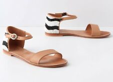 ANTHROPOLOGIE MISS ALBRIGHT PASO FINO BEADED LEATHER SANDALS 6