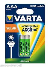 12 x AKKU VARTA AAA LONGLIFE Solar AAA 550mAh 1,2V LR06 MICRO ACCU 56733  NEU