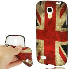 Hülle f Samsung Galaxy S4 mini i9190 Silikon Case Tasche Cover Flagge England GB