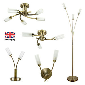 Matching antique brass led ceiling wall lights touch table floor image is loading matching antique brass led ceiling wall lights touch mozeypictures Image collections