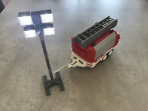 Playmobil Fire Trailer /& Floodlight Bundle
