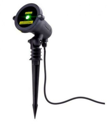 Blisslights Spright LIte Compact Outdoor Holiday Projector GREEN Laser Light