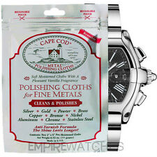 *NEW* CAPE COD FINE METAL POLISHING CLOTH FOR CARTIER WATCH - PACK OF 2