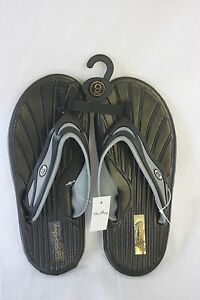 Sandals-STAR-Bay-Sandals-Black-amp-Silver-Rubber-NEW-SZ-7