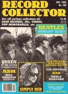 No-196-Dec-1995-The-Beatles-Queen-Ash-Magazine-Record-Collector-VG