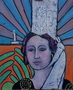 Tableau-peinture-huile-sur-toile-Bretagne-bretonne-bigouden