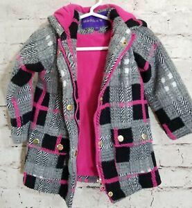 20169fed028 Madden Girl Faux Wool Jacket Pea Coat Toggle Hood Buttons Sz. 2T | eBay