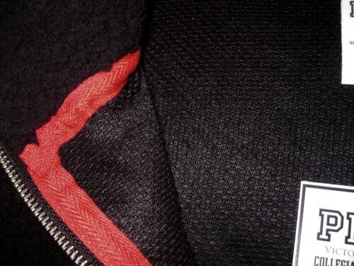 NWT VICTORIA/'S SECRET PINK BLACK OHIO STATE SHERPA FLEECE QUARTER ZIP SWEATSHIRT