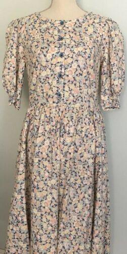Laura Ashley VTG 80's Floral Dress CottageCore Pra