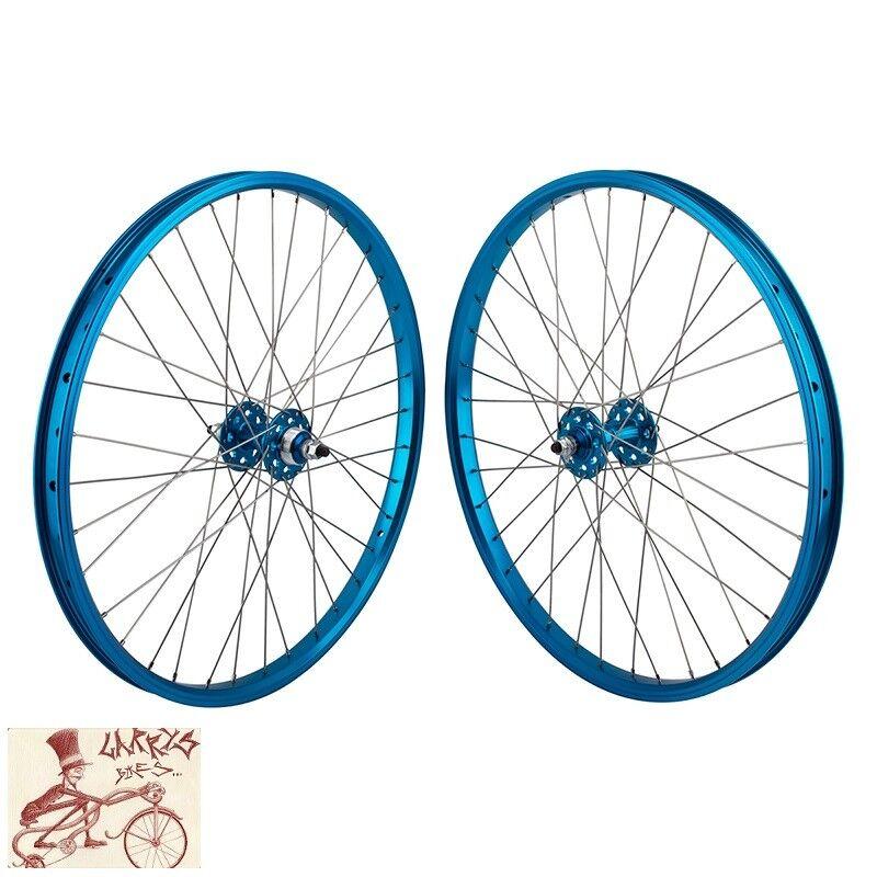SE BIKES FREEWHEEL 3 8  AXLES  24  x 1.75   blueE FRONT AND REAR WHEELSET