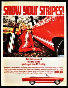Vintage-1967-Ford-Fairlane-Convertible-auto-car-advertisement-print-ad-art