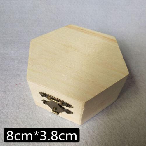 Llanura de almacenamiento caja de joyería estuche de madera Hágalo usted mismo Pulsera Organizador Navidad Regalos
