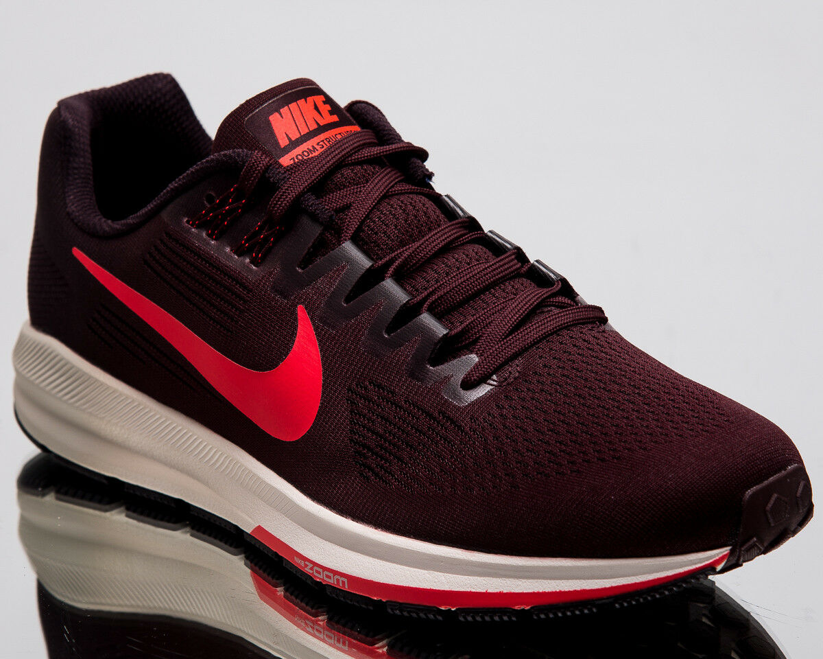 Nike Air Zoom Structure 21 Men New Burgundy Ash Running Shoes 904695-600