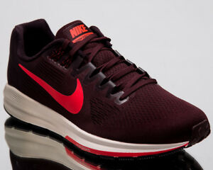 f3c6f20c1025b Nike Air Zoom Structure 21 Men New Burgundy Ash Running Shoes 904695 ...